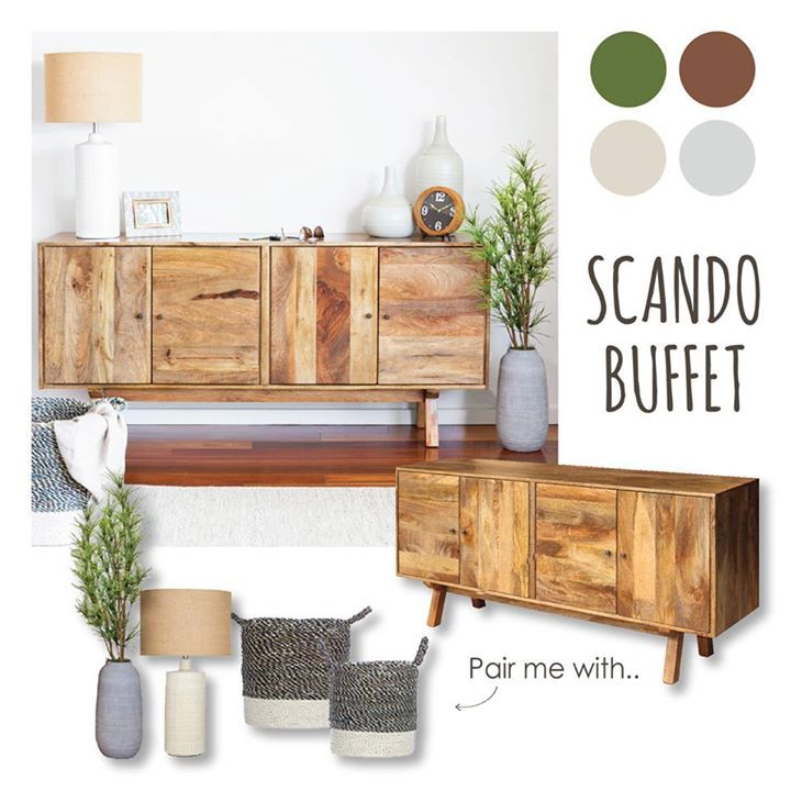 Hand assembled using contrasting timber panels, the Scando Buffet brings that classic touch of rustic retro