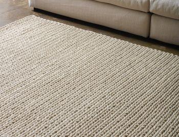 Rope Weave Beige NZ Wool Rug image
