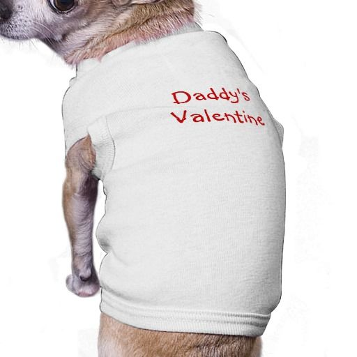 Daddy's Valentine / Doggie Ribbed Tank Top Shirt! It's made from 5.8 oz., 100% combed, ringspun baby rib cotton for comfort #fomadesign