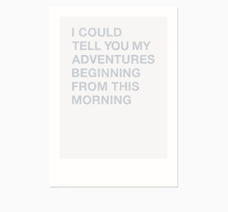 FRIDAY & TODAY • I Could Tell You... Poster • Available at www.fridayandtoday.com