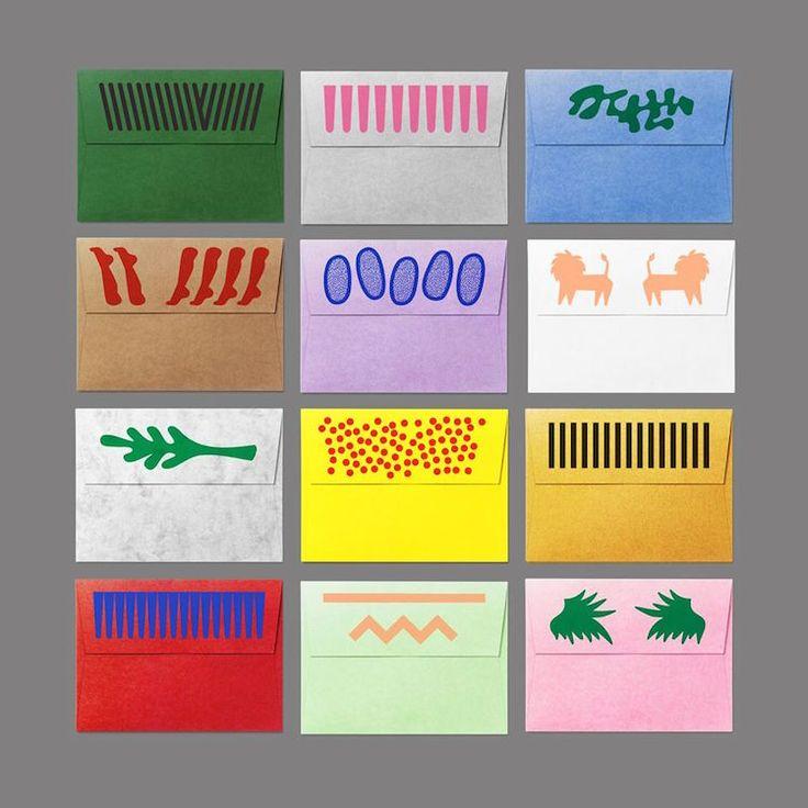 kit d'enveloppe imprimé au Riso