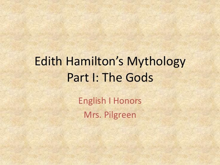 Edith Hamilton's Mythology Part 1: The Gods