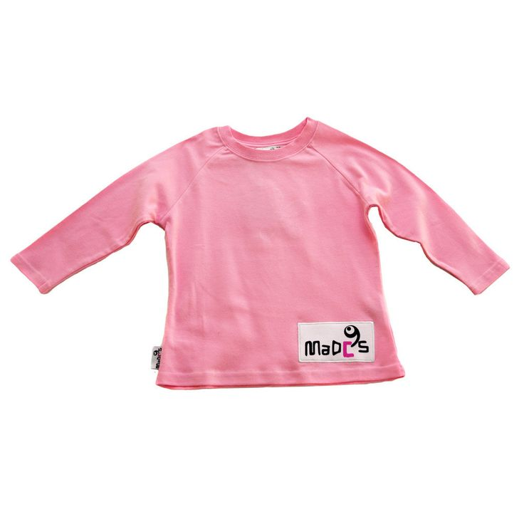 These eye catching pink and white designer kids #pyjamas are feminine without being flouncy - cheeky, but not childish. #pajamas