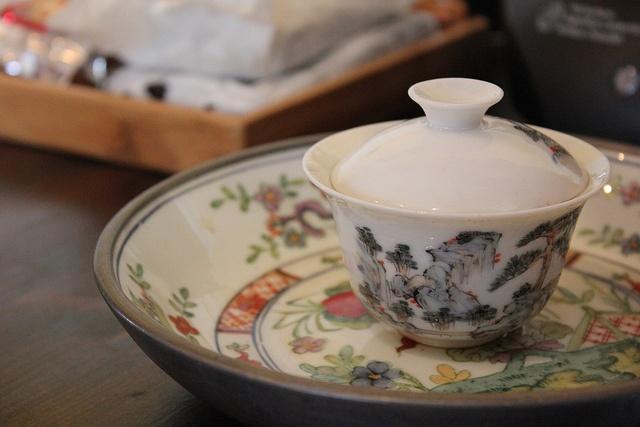 March 2012 Southeast Tea Affair - gaiwan by bearsbearsbears, via Flickr -- I have this crane gaiwan. One of my favorites.