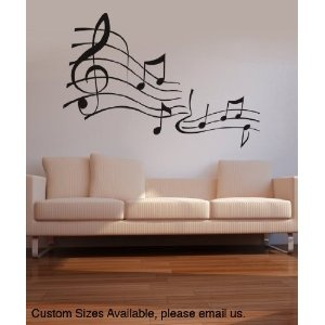 Vinyl Wall Decal Sticker Music Notes. this would be perfect in her place if she was allowed to do it!