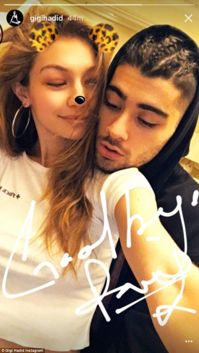 He's Hadid an idea! Zayn Malik copied girlfriend Gigi's plaited hairstyle modelled at the Balmain show for PFW as they pose for an Instagram story which they shared on Wednesday