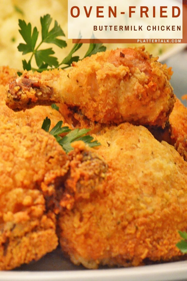 This Easy Recipe For Southern Chicken Uses Bone In Chicken Soaked In Buttermilk You Can Also Use Bo In 2020 Chicken Recipes Easy Chicken Recipes Baked Chicken Recipes