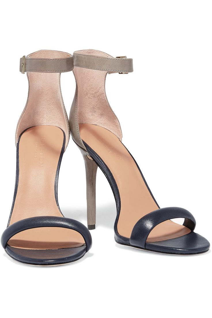 Ester two-tone leather sandals | Halston Heritage | UK | THE OUTNET