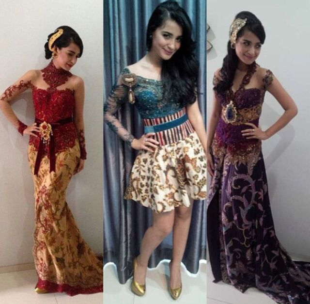 115 best Kebaya Modern images on Pinterest  Batik dress Batik