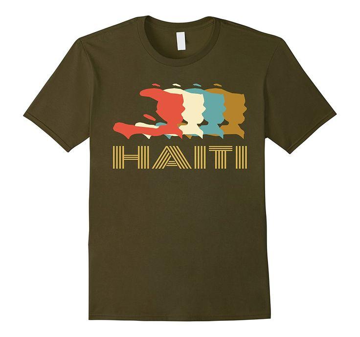 Vintage Haiti T-shirt- I Love Haiti Country Map Tee Shirt