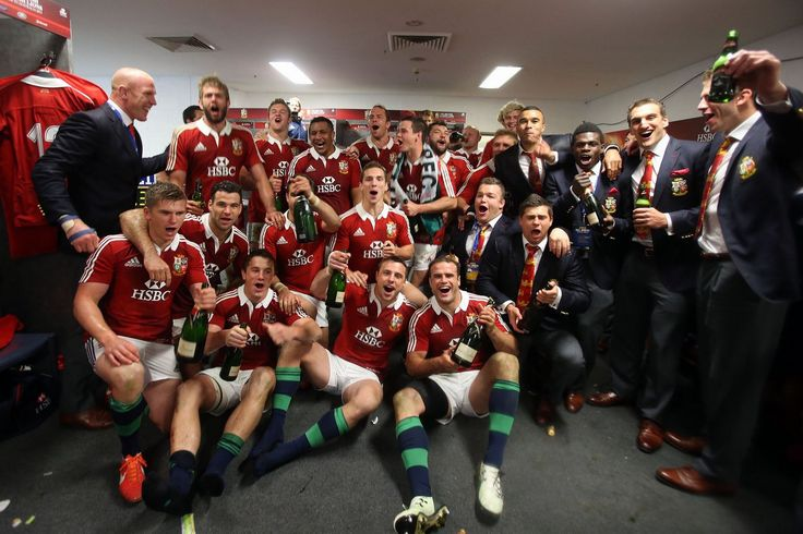 The Lions celebrate their win - British & Irish Lions 2013: The best of the off-field action in Australia #BritishandIrishLions #rugby