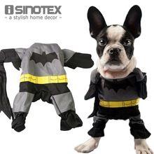 Batman Trajes Do Cão Animais de Estimação Fresco Roupa do animal de Estimação Roupa Xale Manto Roupas Fantasia Vestido Gatos Camisetas Vestuário alishoppbrasil