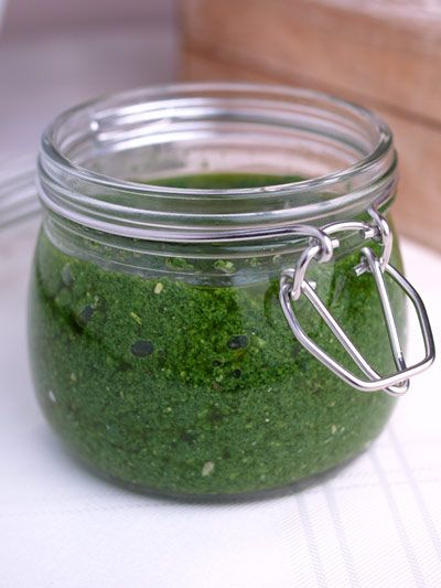 nettle pesto - it's that time of year!