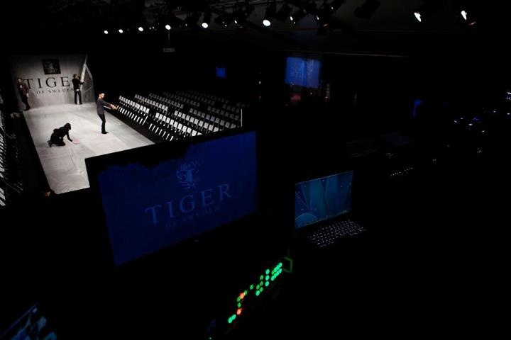 Before the show.   Behind the Scenes of Fashion show AW 2012 – @ Mercedes-Benz Fashion Pavilion.