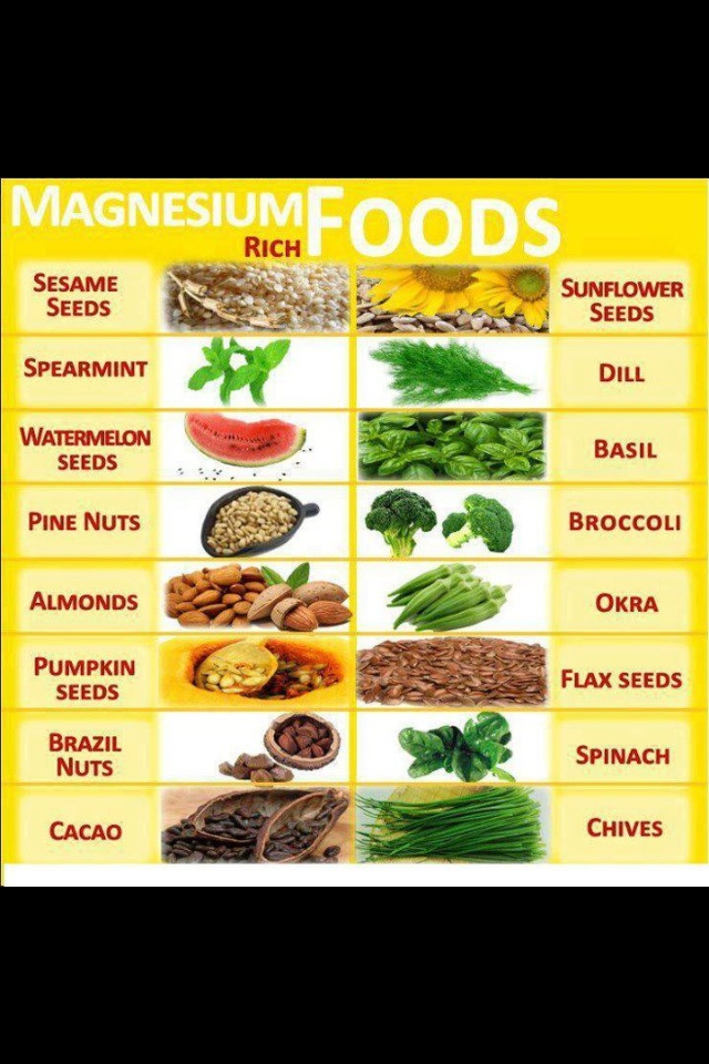 Magnesium rich foods for energy