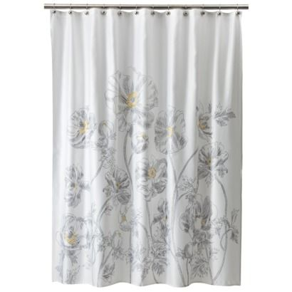 Target HomeTM Sketch Floral Shower Curtain 1999 Like The Little Yellow Blue Gray