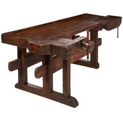 Colossal Antique Craftsman's Workbench