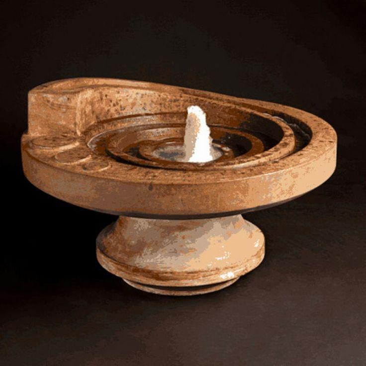 Henri Studio Hurricanes Eye Patio Outdoor Floor Fountain Sorrento Sandstone - 5585F2-SR