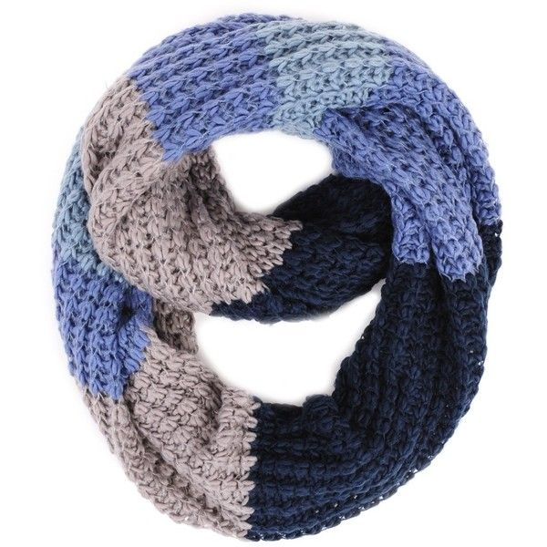Paula Bianco Chunky Infinity Scarf in Navy Multi ($48) ❤ liked on Polyvore featuring accessories, scarves, navy, scarves & shawls, women, infinity scarves, tube scarves, infinity scarf, navy blue infinity scarf and round scarf