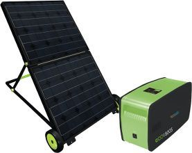 Solar-powered generator