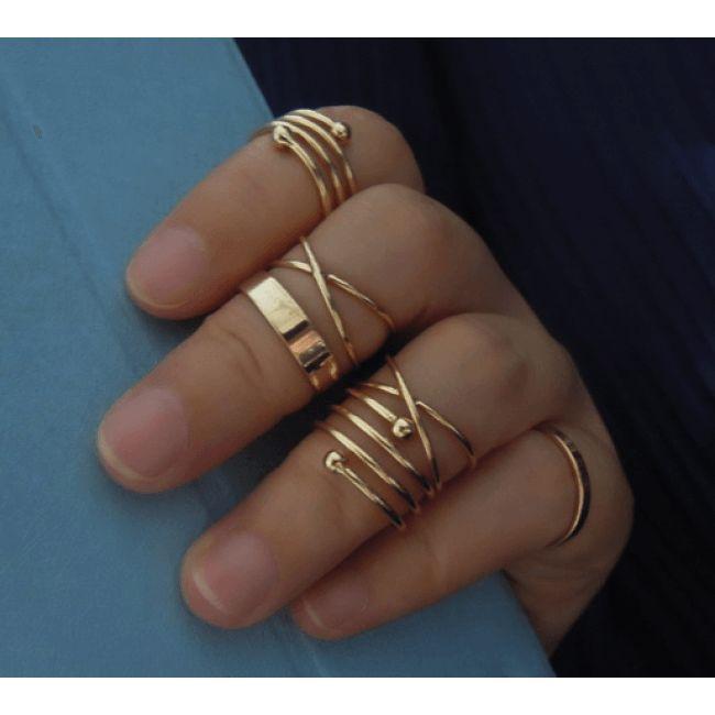Conjunto Anéis para falange Maria Biju