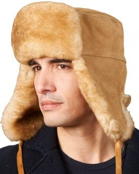 06caba669cc Men s Alaska Napa Shearling Sheepskin Trapper Hat in Black Frost. Yukon  Sheepskin Russian Ushanka Hat