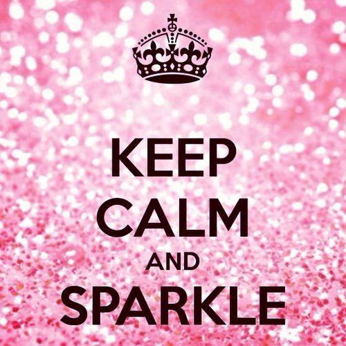 keep calm and sparkle #girly #pink <3 For tips and advice on trends and fashion, Visit www.makeupbymisscee.com