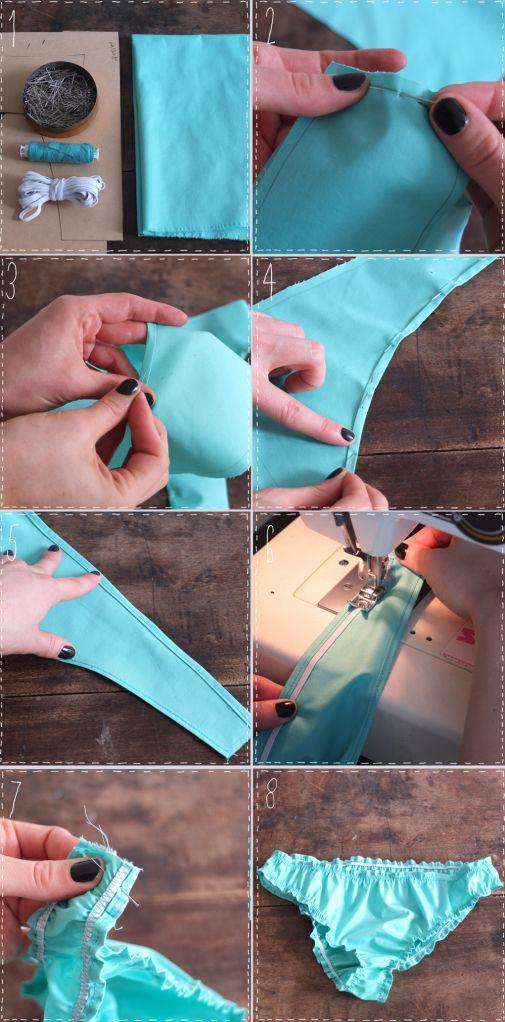 Tutorial-paso a paso de cómo hacerte tu propio bikinis de moda.