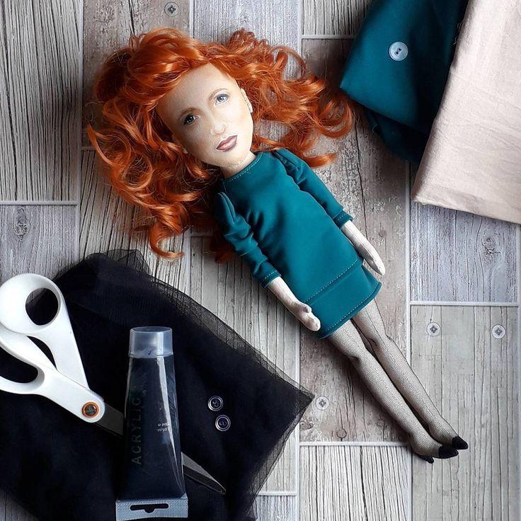 Portrait custom fabric rag doll. @pokotiloportraitdolls