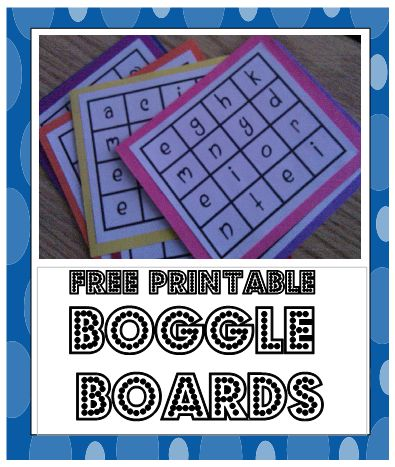 Great Center Activity with printables.