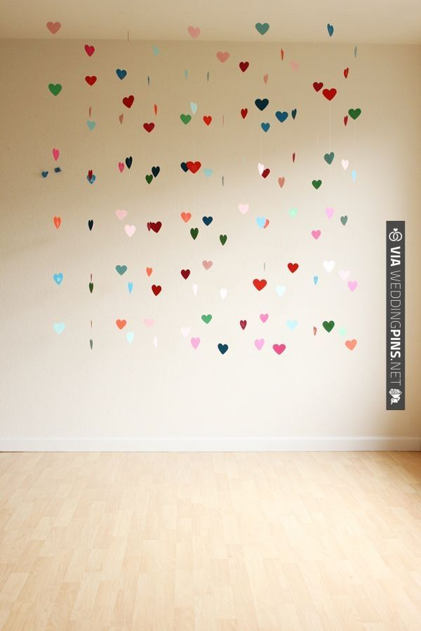 DIY: floating heart backdrop - great for an e shoot / wedding decor | CHECK OUT MORE IDEAS AT WEDDINGPINS.NET | #weddings #uniqueweddingideas #unique