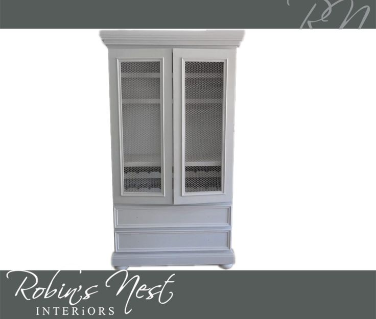 This gorgeous display cabinet is perfect for valuable, antique collector's items that need to be kept safe yet be visible to the eye. Get it now at #RobinsNestInteriors. #interiordesign #decor