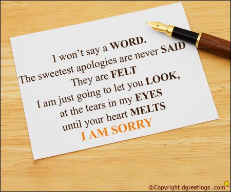 Send this meaningful card to apologize to the loved one whom you have hurt.