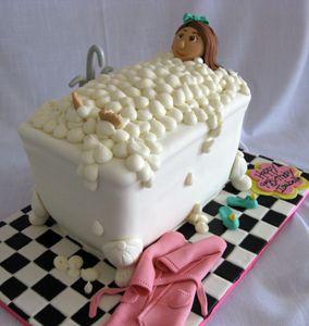 Sculpted Bath Tub Cake by Amanda Oakleaf Cakes, via Flickr