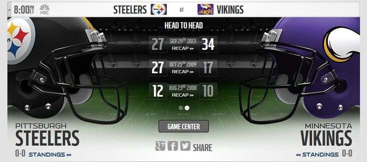 Watch Minnesota Vikings vs. Pittsburgh Steelers Live Onlien