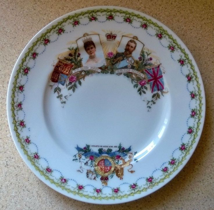 VINTAGE KING GEORGE V AND QUEEN MARY COMMEMORATIVE 6 INCH PLATE - CORONATION ?