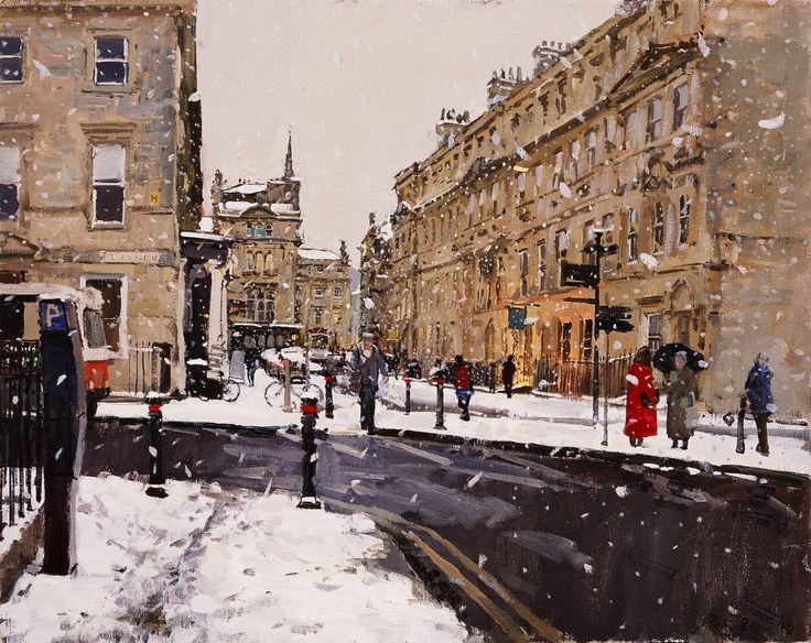 Peter Brown - Milk Float and Snowfall from Queen Square