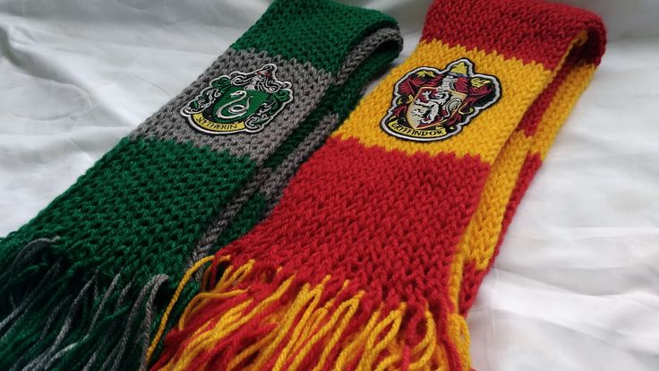Cachecol Harry Potter Sonserina e Grifinória / Slytherin and Gryffindor Scarf