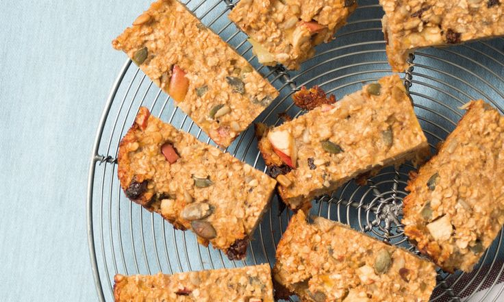 Apple, raisin and mixed seeds make this the perfect home-made snack.