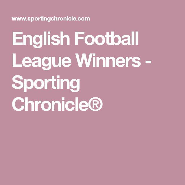 English Football League Winners - Sporting Chronicle®
