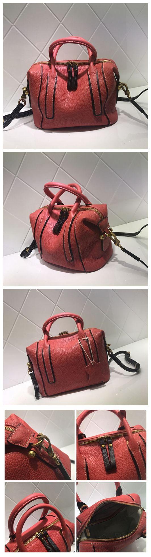 Full Grain Leather Fashion Handbag Shoulder Bag Messenger Bag Leather Bag for Women AM02 Overview: Design: Women Fashion Handbag In Stock: 3-5 days For Making Include: Only Handbag Color: Red, Gray, B