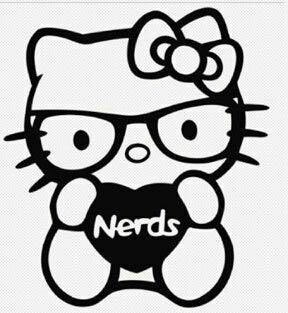 nerd - Coloring Pages Kitty Nerd