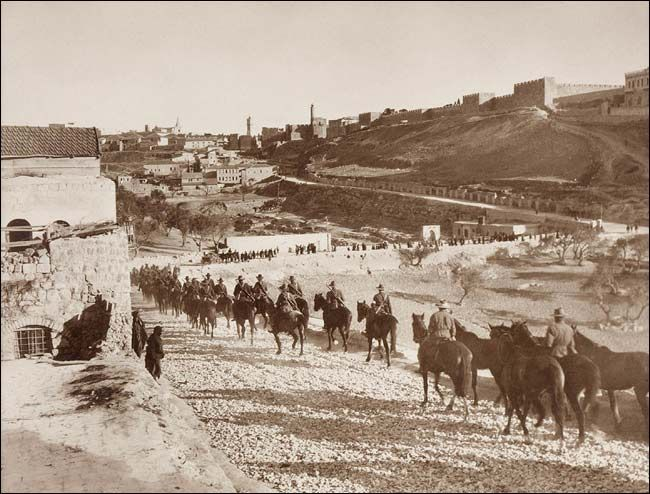 Australian Light Horse Men Entering Jerusalem by Frank Hurley