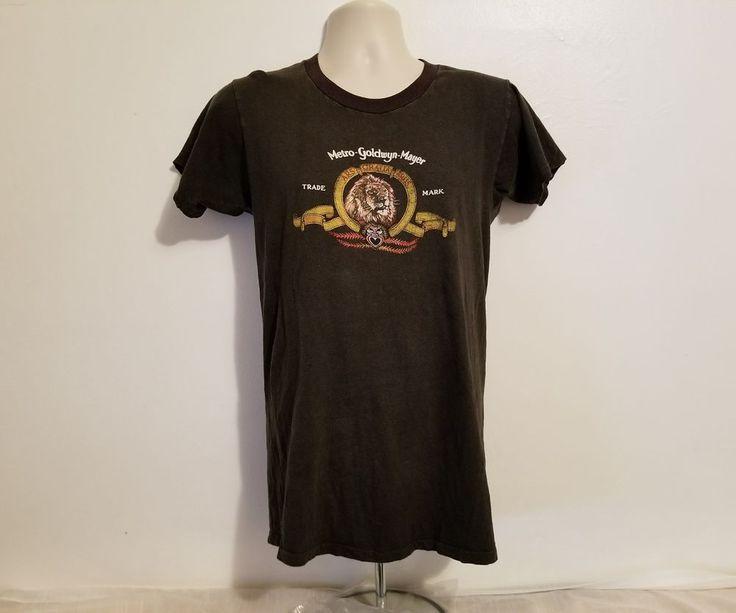 MGM Metro Goldwyn Mayer Lion Logo Adult Medium Gray T-Shirt #MGM #GraphicTee