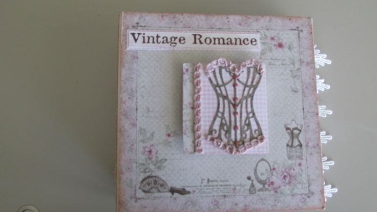 Mini album made by Sooz @ Crafty NotioNZ using Maja Design Vintage Romance paper pack available on www.craftynotionz.co.nz