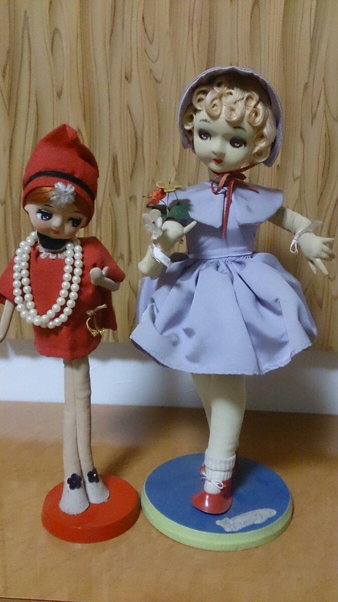 ポーズ人形 置物 インテリア 2体セット フランス人形_画像1