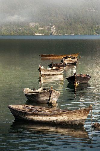 Sardinian fishing boats, Italy.