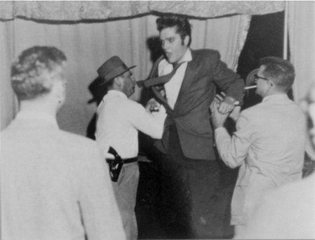 Elvis backstage at the Heart O' Texas Coliseum, Waco, TX - Oct. 12, 1956 Photo by Jimmie Willis courtesy Ger Rijff - Heart O' Texas Coliseum Waco, TX