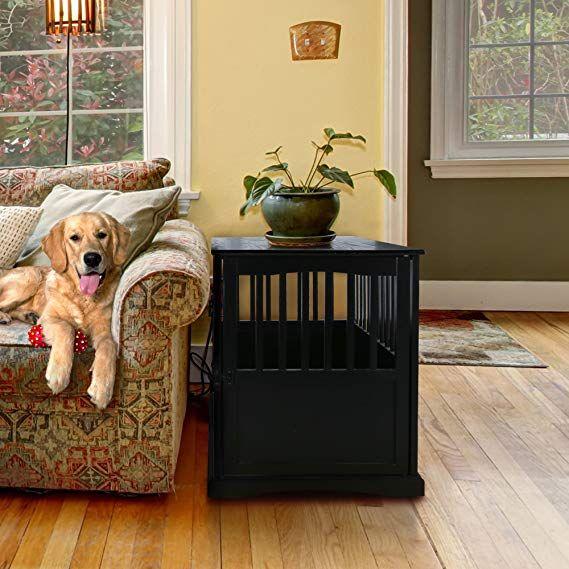 Amazon Com Casual Home 600 42 Wooden Pet Crate 24 H M Black
