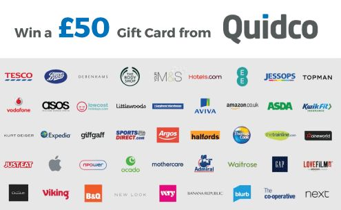 Quidco are kindly giving away a £50 gift card to our members every week! Simply visit this page to be entered into the draw. Each day you visit gains you a new entry. The draw happens at midnight on Sundays. We'll let you know if you've won via email.